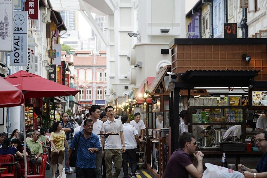 The new Chinatown Food Street has 24 street-hawker stalls and six shophouse restaurants serving a variety of dishes. Visitors to Chinatown will soon be able to get free Wi-Fi access while navigating the streets of the popular tourist precinct.&