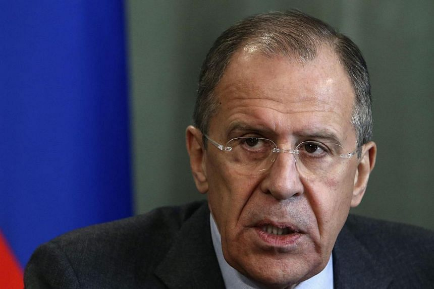 Russian Foreign Minister Sergei Lavrov takes part in a news conference in Moscow March 8, 2014. Russia is to send to Washington a series of proposals for resolving the crisis in Ukraine, Mr Lavrov said Monday, March 10, 2014.-- PHOTO: REUTERS