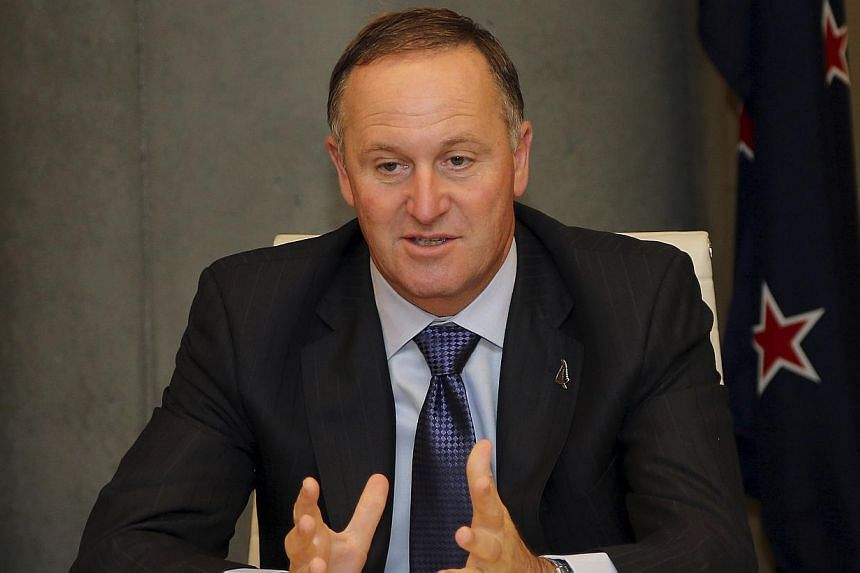 New Zealand Prime Minister John Key speaks during Trans-Tasman business talks in Sydney on Feb 7, 2014. New Zealand will hold its general election on Sept 20, Mr Key said. -- FILE PHOTO: AFP