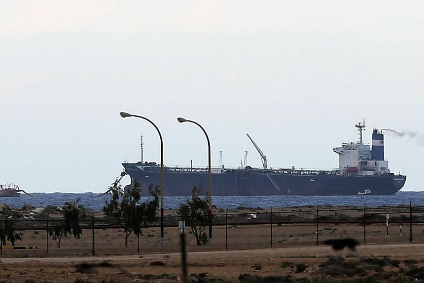 A North Korean-flagged tanker is docked at the Es Sider export terminal in Ras Lanuf on March 8, 2014.Libya's parliament has ordered the formation of a military force to end the occupation of oil ports by rebels, a spokesman said on Monday, aft