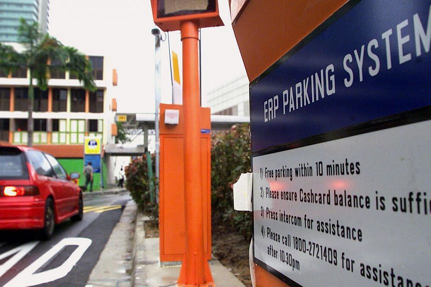 Parking rates for motorcycles will be charged on a per minute basis, instead of at a flat rate, to help delivery riders who use multiple carparks in a day. -- ST FILE PHOTO: DESMOND FOO