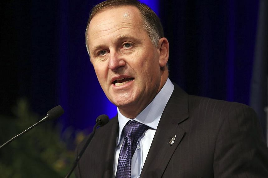 New Zealand's Prime Minister John Key speaks at a luncheon in Sydney on Feb 7, 2014. -- FILE PHOTO: REUTERS