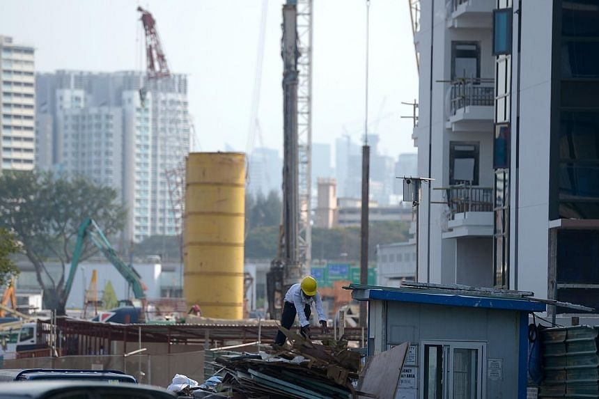 Construction site of private housing near Woodleigh MRT station. -- ST FILE PHOTO: JAMIE KOH