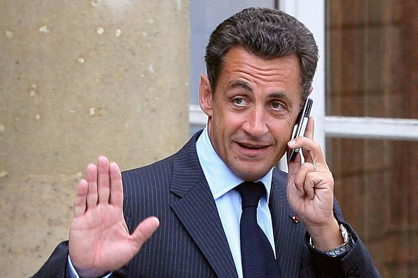 A picture taken on August 27, 2007 at the Elysee palace in Paris showing French President Nicolas Sarkozy gesturing. France's top court on Tuesday, March 11, 2014, rejected a plea by Nicolas Sarkozy against the seizure of his diaries by judges invest