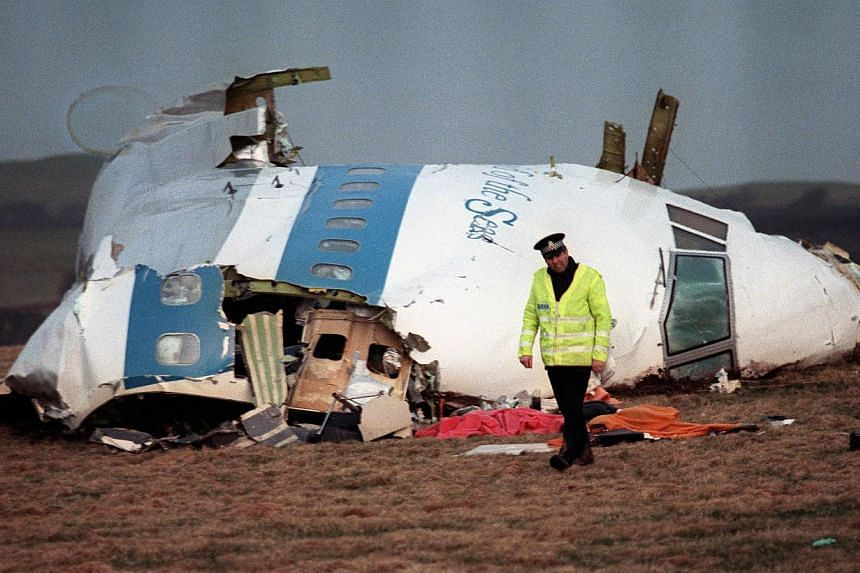 A file picture taken in Lockerbie, Scotland, on Dec 22, 1988, shows the wreckage of Pan Am flight 103 that exploded, killing all 259 people aboard. Iran on Tuesday denied any involvement in the Lockerbie bombing in the face of new allegations it cont