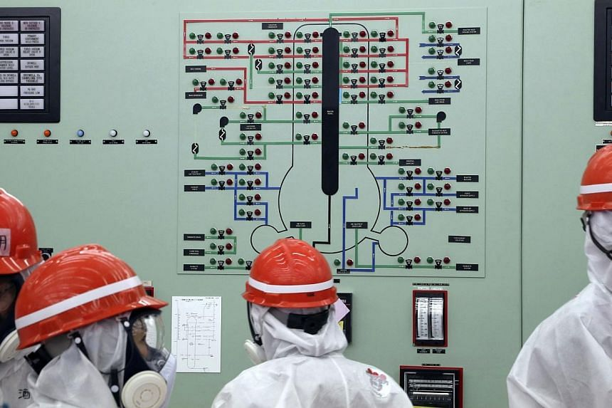 A view of the central operating control room of the No. 1 and No. 2 reactors at Tokyo Electric Power's tsunami-crippled Fukushima nuclear power plant in Fukushima prefecture on March 10, 2014. -- PHOTO: REUTERS