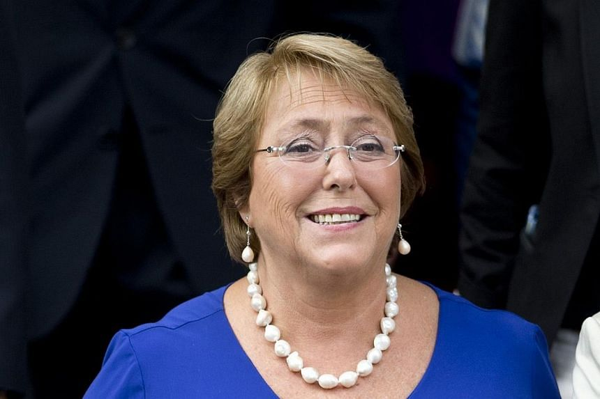 Socialist Michelle Bachelet took the oath of office as president of Chile Tuesday, March 11, 2014, returning to power after four years with a reform agenda to reduce social disparities in this prosperous South American country. -- PHOTO: AFP