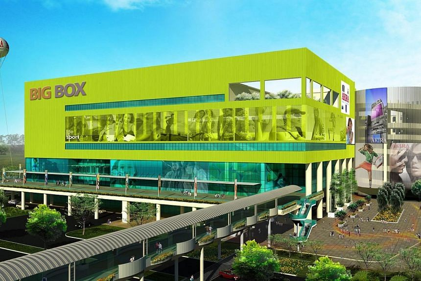 Artist's impression of Big Box, an eight-storey warehouse and retail development in Jurong East that is expected to be completed by the end of 2013. Big Box is slated to open in Jurong East by the end of the year, according to its developer TT Intern