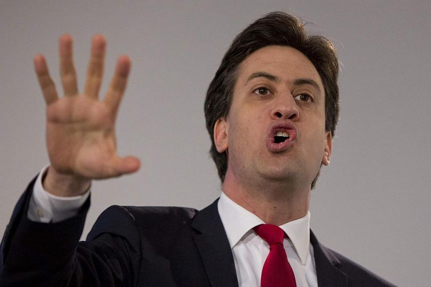 Britain's opposition Labour Party leader Ed Miliband delivers a speech at his party's special conference, in London March 1, 2014. A future Labour government is unlikely to hold a referendum on Britain's membership of the European Union (EU) this dec