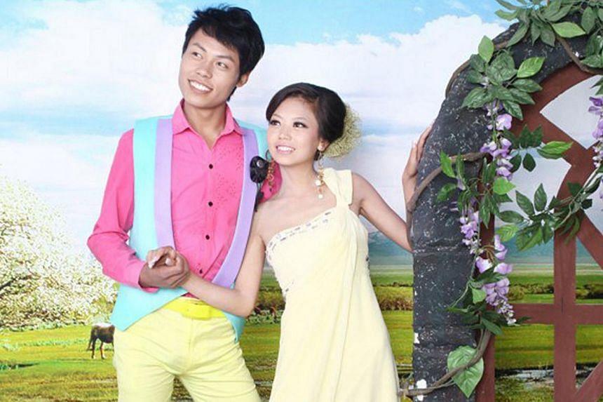 Zhao Peng, seen here with his wife, Zhang Jin.