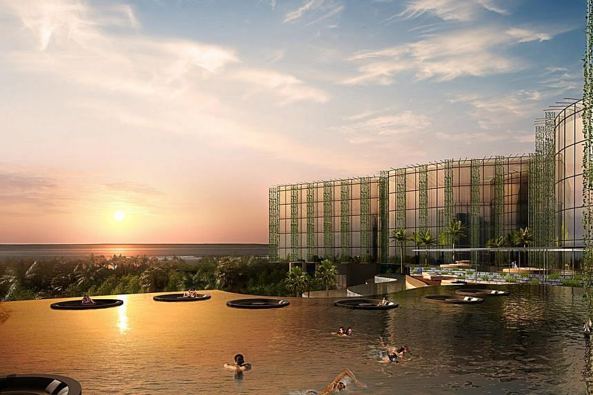 Artist's impression of the former military parade square in Sentosa that will be turned into a hotel by Far East Organization. -- PHOTO: SENTOSA LEISURE GROUP