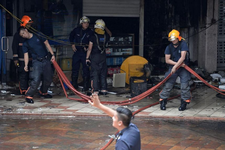 Fire at Rochor Centre -- ST PHOTO: MARK CHEONG