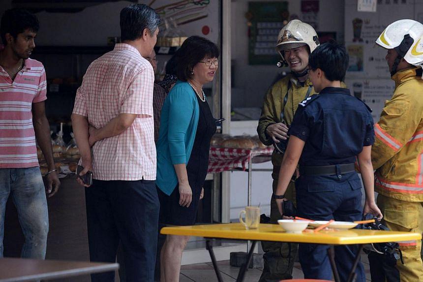 Fire at Rochor Centre -- ST PHOTO: MARK CHEONG