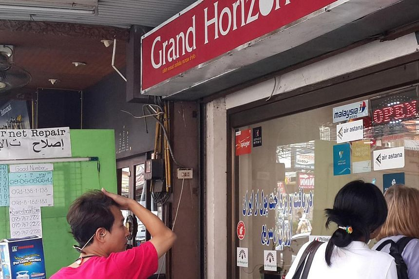Grand Horizon, the travel agency in Phuket that sold tickets to the two Iranian men travelling on stolen passports on the ill-fated MH370. -- ST PHOTO: NIRMAL GHOSH