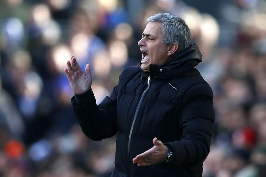 Jose Mourinho was at his most cagey on Friday, March 14, 2014, when discussing the prospect of Chelsea opening up a nine-point lead at the top of the English Premier League away to Aston Villa on Saturday. -- FILE PHOTO: REUTERS