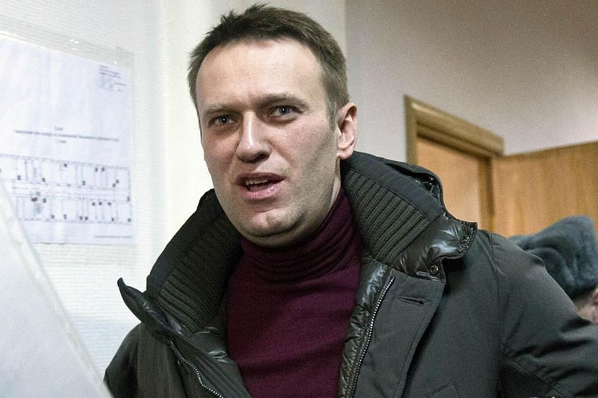 Russia has blocked three major opposition news websites as well as the popular blog of Kremlin critic Alexei Navalny (above), the latest in a media crackdown that comes amid Moscow's stand-off with the West over Ukraine. -- FILE PHOTO: AFP