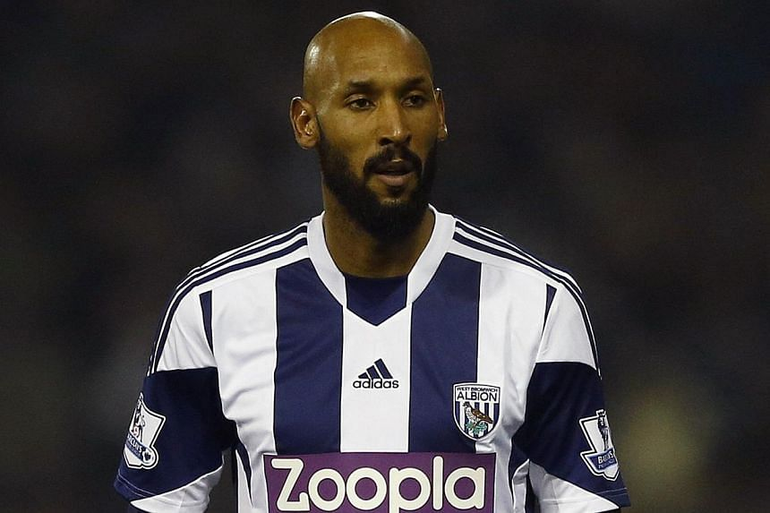 West Bromwich Albion's Nicolas Anelka looks on during their English Premier League soccer match against Everton at The Hawthorns in West Bromwich, central England on Jan 20, 2014. West Bromwich Albion announced on Friday that it had sacked banne