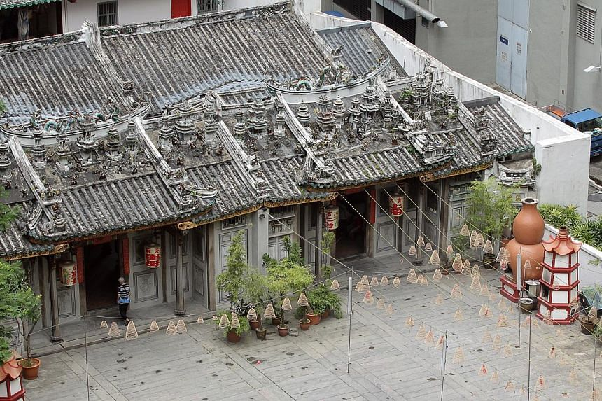 A view of the temple exterior taken in 2010, before restoration work began. -- PHOTO: LIANHE ZAOBAO FILE