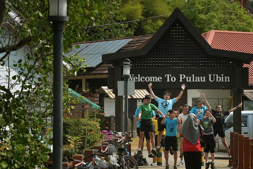 Regular visitors to Pulau Ubin hope to see as little government intervention as possible. But NMP Faizah Jamal pointed out that some structures, including abandoned kampung homes, are crumbling. -- ST PHOTO: KUA CHEE SIONG