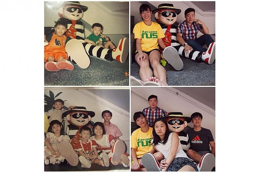 Recreating those childhood photos this morning ?? it was super fun!Especially love the bottom left and bottom right ones. ?? I'll miss this placevery very much.-- PHOTO: INSTAGRAM USER KAAIII89