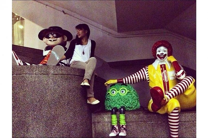 """Just chilling with old friends. """"How's it going Hamburglar?"""".-- PHOTO: INSTAGRAM USER WANZILOW"""