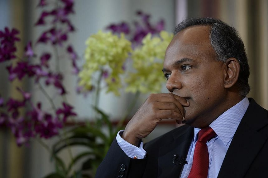 Extremely good intelligence is key to averting incidents such as the missing Malaysia Airlines flight MH370, said Minister for Foreign Affairs and Law K. Shanmugam. -- ST FILE PHOTO: DESMOND LIM