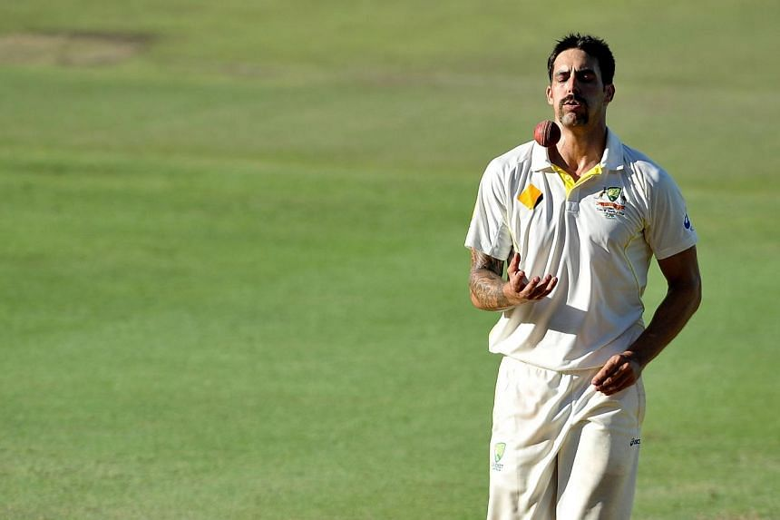 Paceman Mitchell Johnson was ruled out of the Twenty20 World Cup by an infected big toe on Sunday, March 16, 2014, in a blow to Australia's hopes of snaring the one major international trophy they have never won. -- FILE PHOTO: AFP