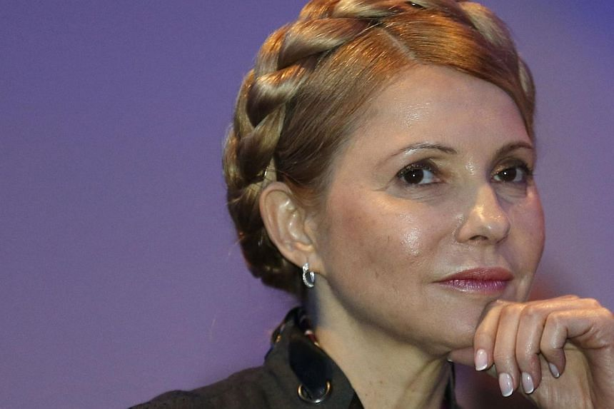 Ukraine's former prime minister, Yulia Tymoshenko, urged Western powers Sunday, March 16, 2014, to unite on a hard line against Russian President Vladimir Putin in the Crimea crisis. -- PHOTO: REUTERS