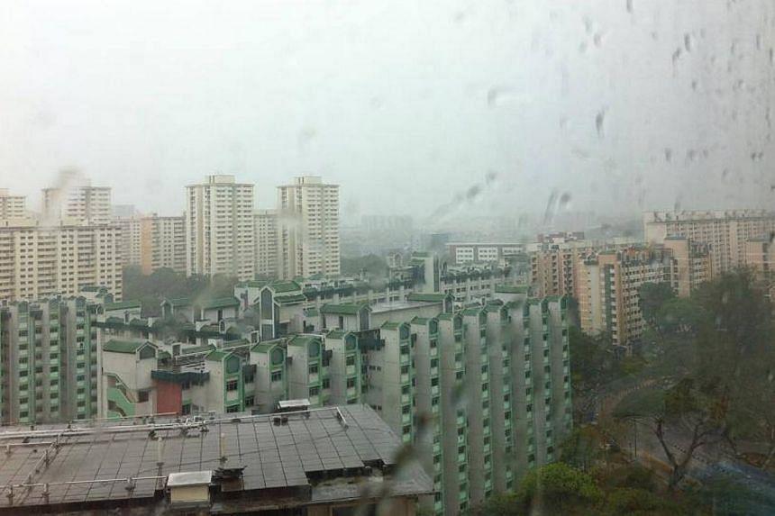 Rain in Toa Payoh. -- PHOTO: JASON TANG