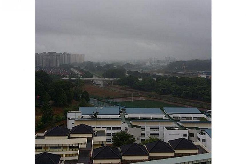Rain in Teck Whye. -- PHOTO: ABDULLAH JOHAR