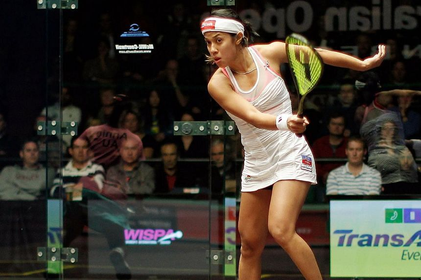 Malaysia's world No.1 Nicol David warned competition was now tougher than ever as she sets out to defend her title at the world women's championships on her home island of Penang. -- PHOTO: AFP