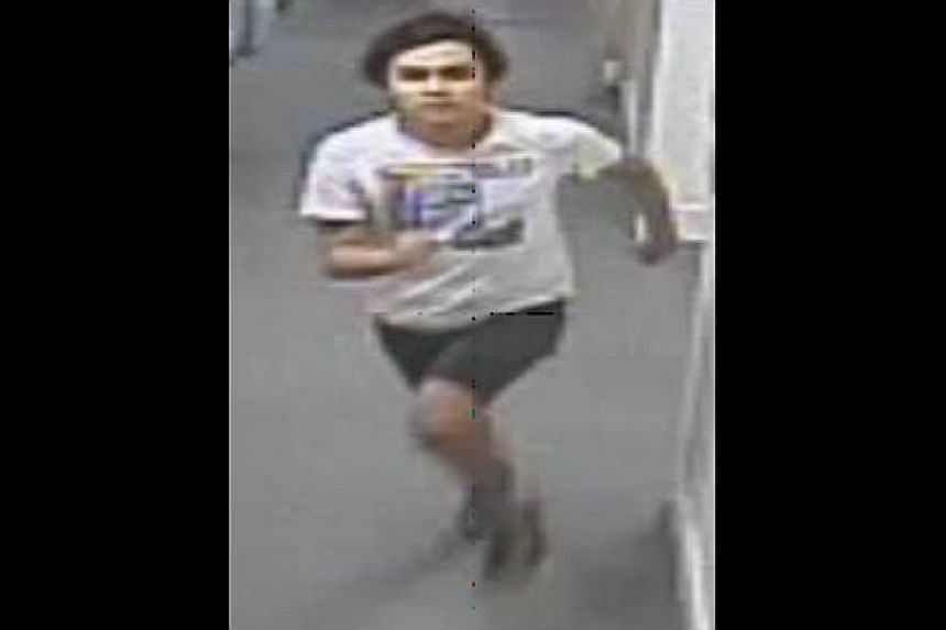 The police are looking for the man (in the photo above), to assist with investigations in a case of outrage of modesty near North Bridge Road. -- PHOTO: SINGAPORE POLICE FORCE