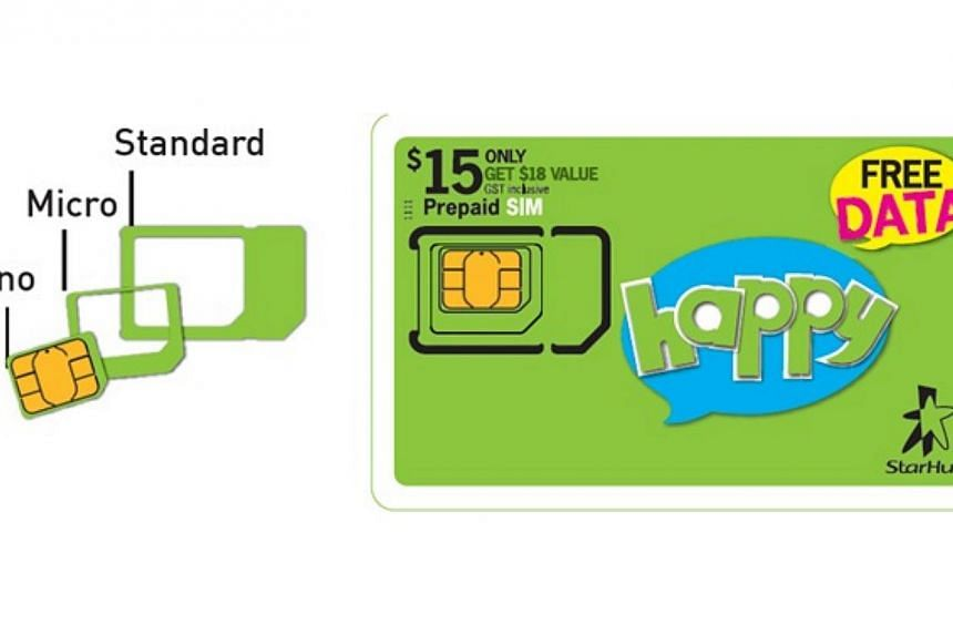"StarHub launches TriSIM, which it claims to be Singapore's first ""three-in-one"" SIM card on March 17, 2014. -- PHOTO: STARHUB"