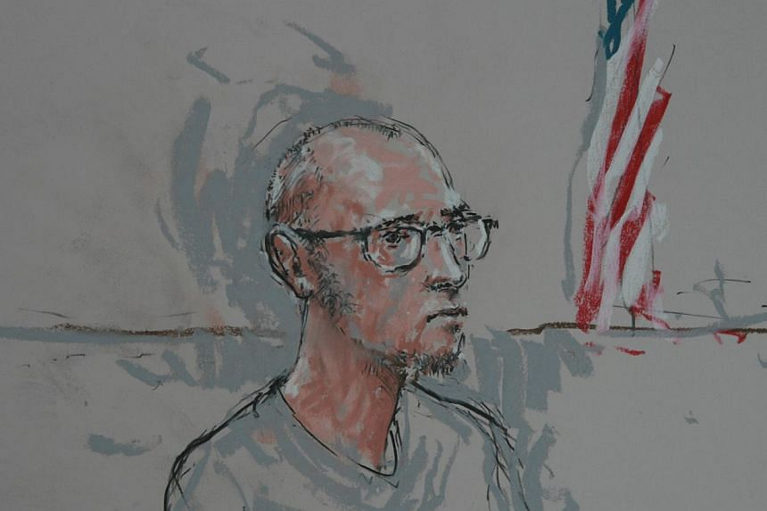 A sketch of Nicholoas Teusant in a federal court in Seattle, Washington on March 17, 2014. -- PHOTO: REUTERS