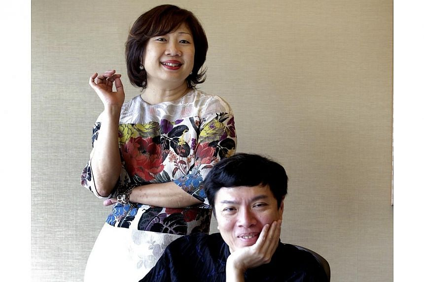 (Left) Ms Lee Chor Lin, chief executive officer of the independent Arts Festival Limited, and Mr Ong Keng Sen, artistic director of the Singapore International Festival of Arts. -- ST PHOTO: CHEW SENG KIM