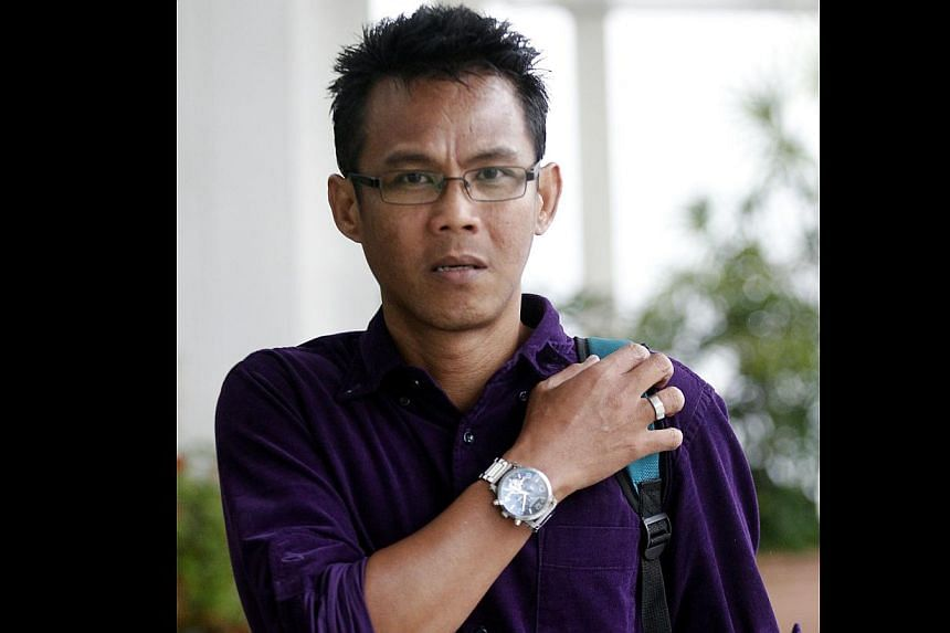 """Juraimi Kamaludin (above) admitted in court to spitting on one of the women. He told the judge """"I can't reach her. If I can reach her, I would have slapped her."""" He accused another woman, Ms Teoh Lay Peng (below), of pushing him."""