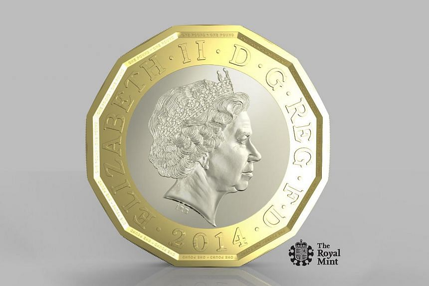 """Britain plans to replace its 1-pound coin in 2017 with """"the most secure coin in circulation in the world"""" as it cracks down on fake currency, the finance ministry said on Wednesday. -- PHOTO: THE ROYAL MINT"""