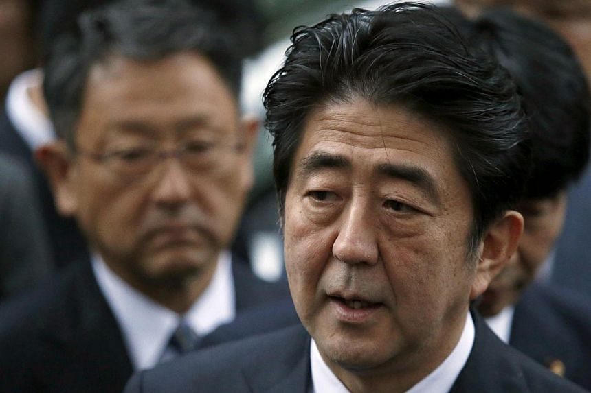Japanese Prime Minister Shinzo Abe on Wednesday condemned Russia's move to annex Crimea as infringement of Ukrainian territorial integrity. -- FILE PHOTO: REUTERS