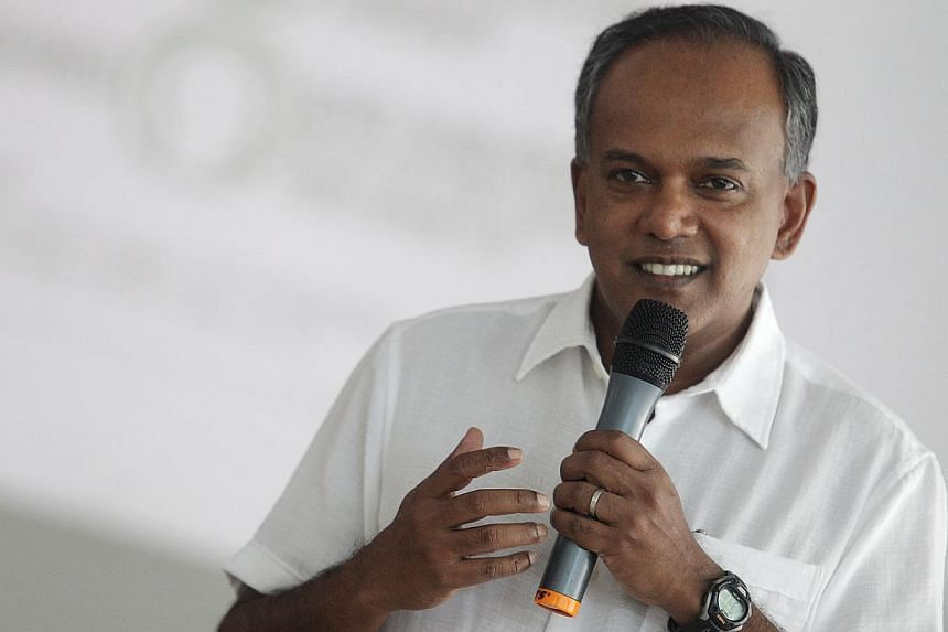 """The Government has adopted a """"comprehensive solution"""" to uplift lower-paid workers, Law Minister K Shanmugam said on Wednesday. -- ST FILE PHOTO: ONG WEE JIN"""
