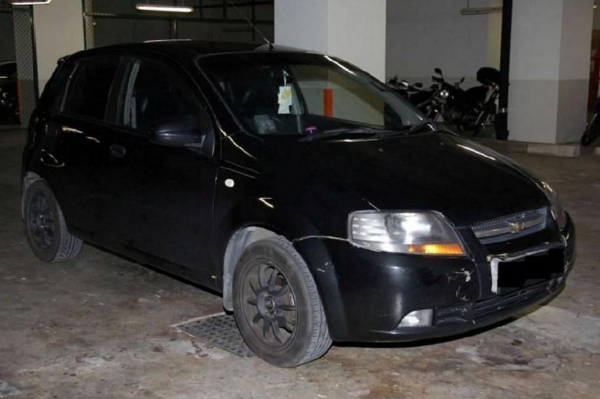 Car seized in CNB operation on 19 March 2014.-- PHOTO: CENTRAL NARCOTICS BUREAU