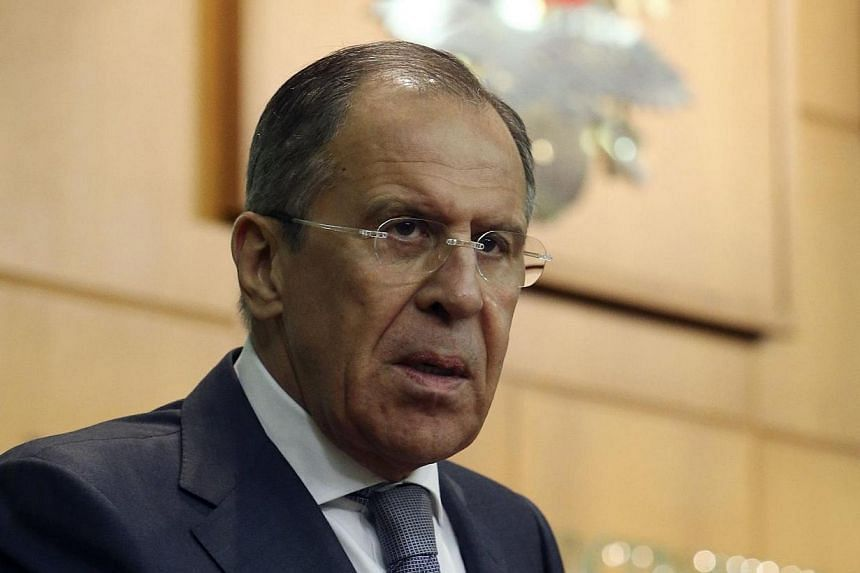 Russia's Foreign Minister Sergei Lavrov speaks during a news conference in Moscow March 20, 2014. Russian Foreign Minister Sergei Lavrov presented a treaty on annexing Crimea to the lower house of parliament on Thursday, March 20, 2014 and urged