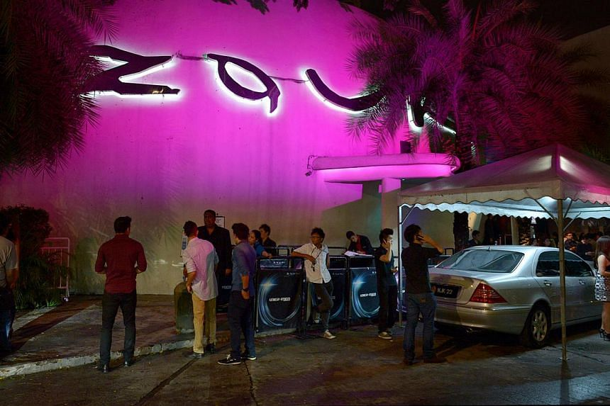 Clubbers outside Zouk KL located at Jalan Ampang, Kuala Lumpur, Malaysia.The Kuala Lumpur arm of Zouk announced on Wednesday, March 19, 2014, the cancellation of its upcoming dance music party, Life in Color, after drug overdoses at the recent Future