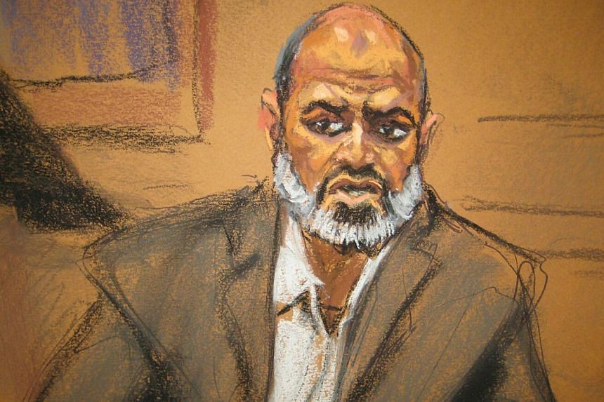 Osama bin Laden's son-in-law, Suleiman Abu Ghaith, in a courtroom drawing in federal court in New York. -- PHOTO: REUTERS