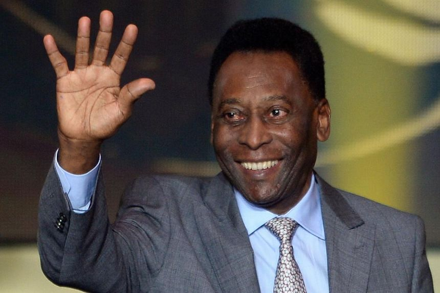 Brazil's football legend Pele at the 2013 FIFA Ballon d'Or award ceremony at the Kongresshaus in Zurich on Jan 13, 2014. A Brazilian football fan hopes to net thousands of dollars from the auction of Pele memorabilia. -- FILE PHOTO: AFP