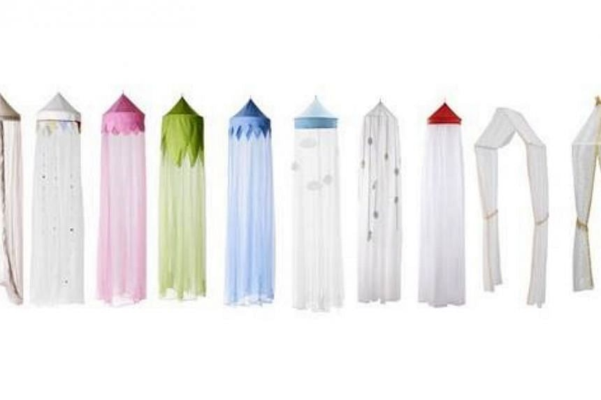 Ikea is recalling eight brands of children's bed canopies because of a potential strangulation hazard. -- PHOTO: IKEA SINGAPORE