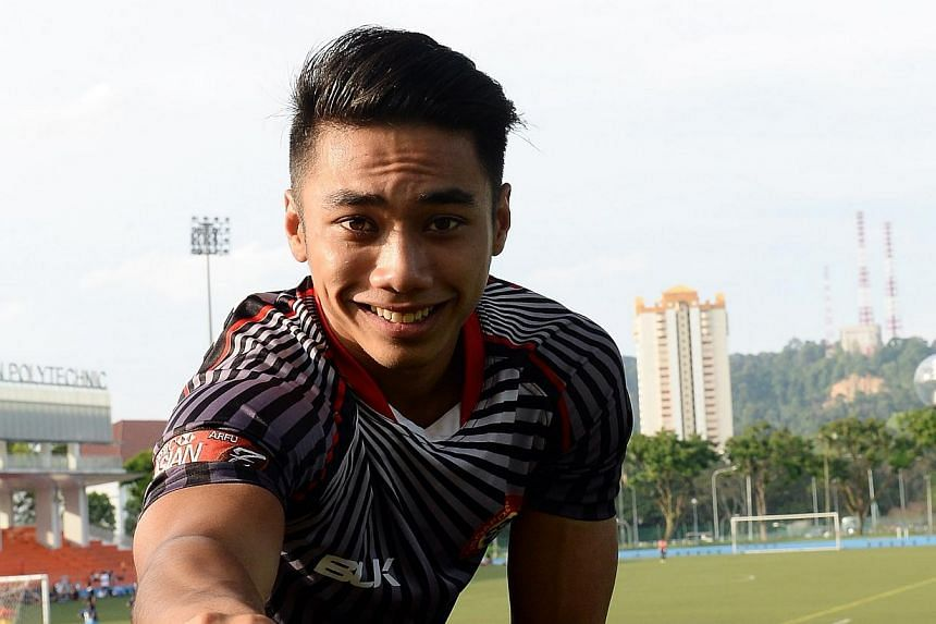 Singapore rugby standout Jay-Hykel Jailani will mix it with the big boys next week as he represents the Asia Pacific Dragons at the prestigious Hong Kong 10s tournament. -- BH FILE PHOTO:MOHD TAUFIK A KADER