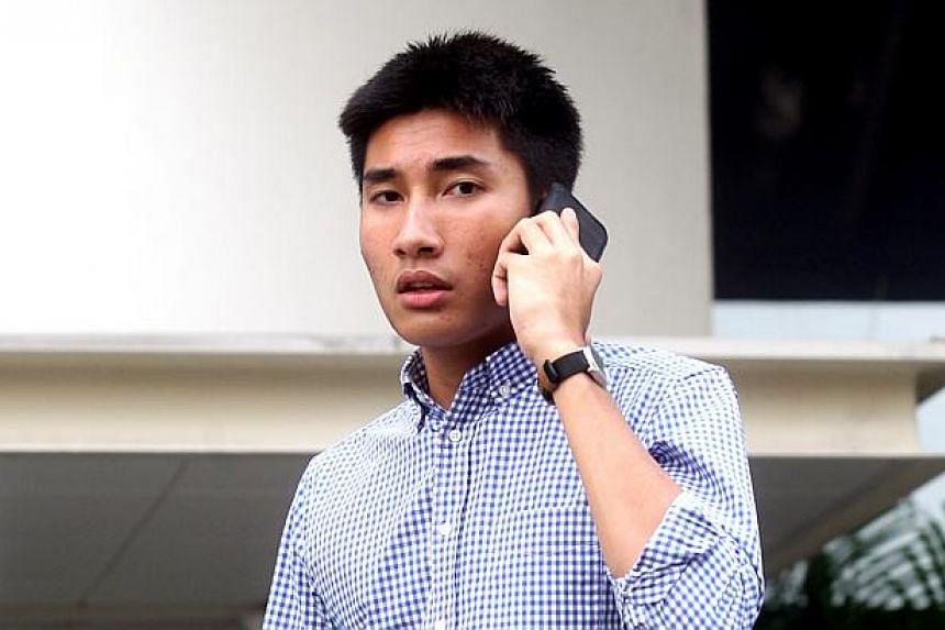 A 21-year-old who ran a red light at an accident-prone road junction and caused the death of a motorcyclist on Friday had his two-week jail term dropped on appeal. -- ST FILE PHOTO: CHEW SENG KIM