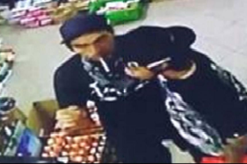 The police are looking for three men (two pictured above) to assist with their investigations into a case of car damage. -- PHOTO: SINGAPORE POLICE FORCE