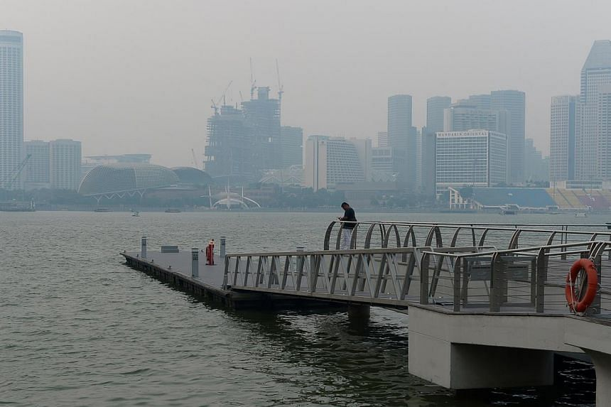 Haze in Singapore earlier this month. The Government has warned that the problem could become worse in the second half of the year.