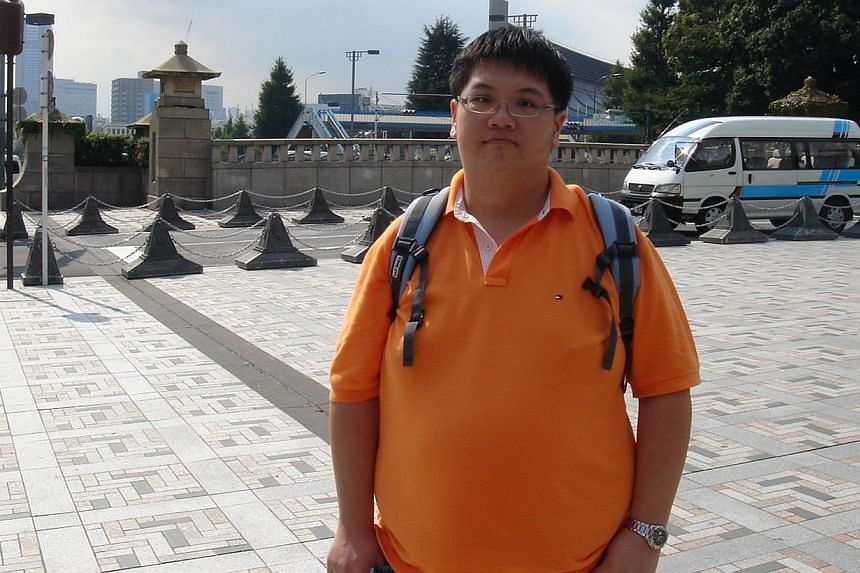 MR HAYDEN SUM, 31, who weighed 136kg six years ago and is now 40kg lighter.-- PHOTO: COURTESY OF HAYDEN SUM